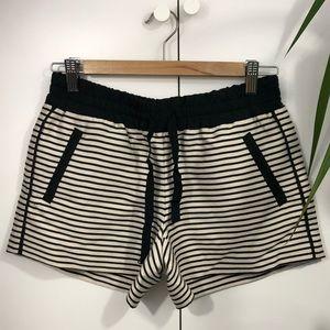 Ann Taylor loft striped shorts size 0